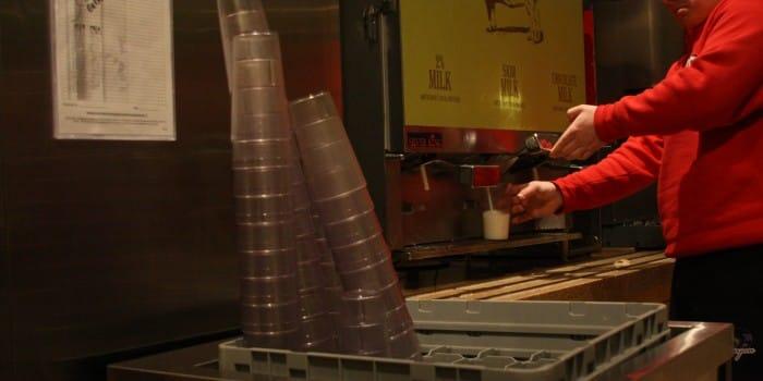 Peirce orders more cups, plates, utensils