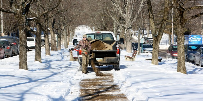 Unfazed by deep freeze, campus stays open and classes continue