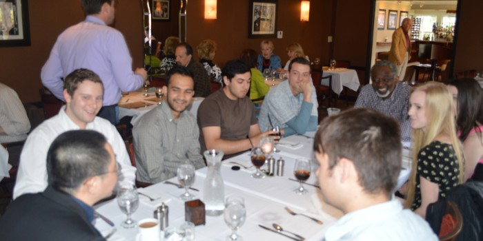 Greeks and faculty fill up on discussion over lunch