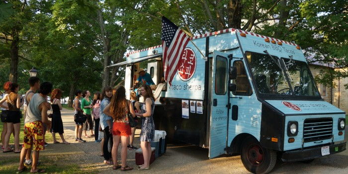 "First night of ""Feast"" film-and-food-truck series whets Gambier community's appetite for more delights to roll in"