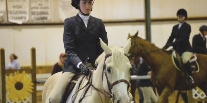 Maddie Morgan '18 walks, trots, canters to nationals