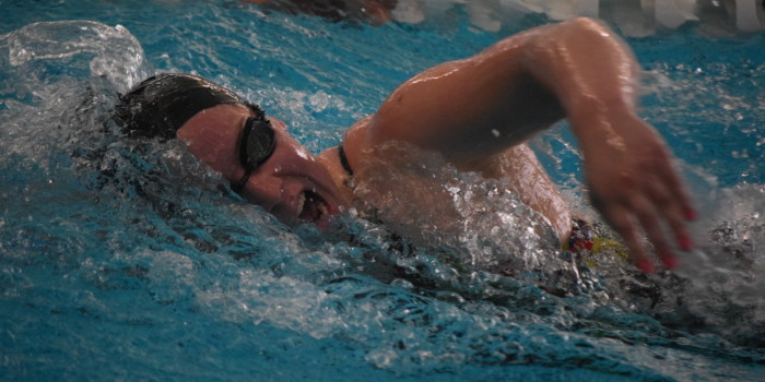 Conover, Wilson set records at swim and dive's TPSC meet