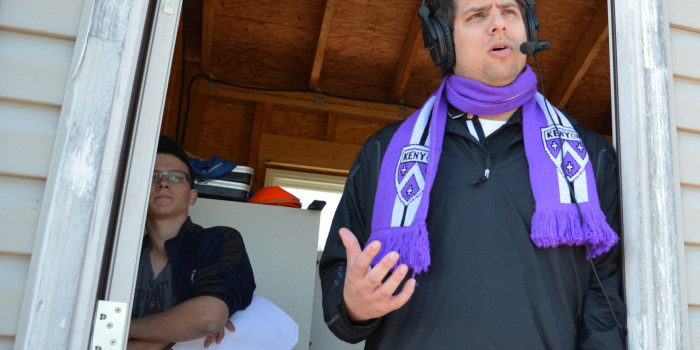 Matthew Ruskan spins stories of Kenyon sports, play by play