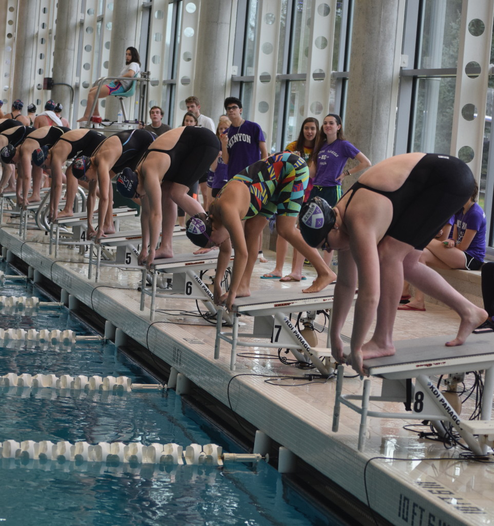 Swimmers line up on the blocks at the TPSC Invitational last weekend. | Nikki Anderson