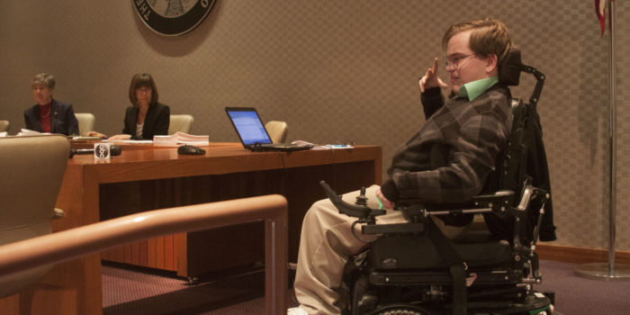 Students testify in support of disability rights