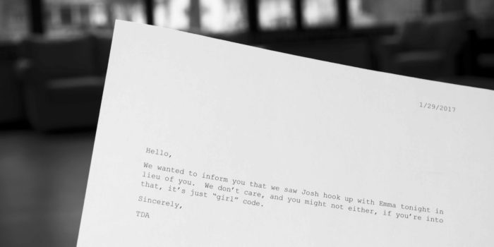 Students find anonymous letters slipped under their doors