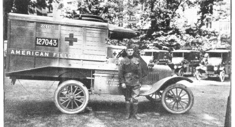 During World War I, Kenyon rallied to buy an ambulance